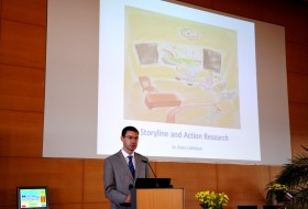Presenting in Halle, Germany