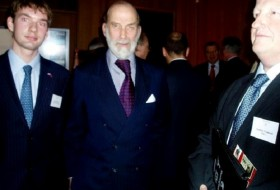 Dr. Mitchell with HRH Prince Michael of Kent, cousin of Queen Elizabeth II